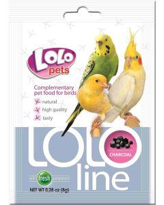 Lolo Charcoal Birds 50g. Tillskottsfoder med vegetabiliskt kol.