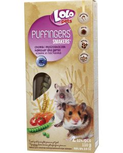 Lolo Puffingers Gerbil/Hamster. Mumsiga kräcker för vacker päls till hamster och gerbil.
