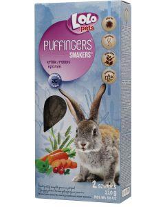 Lolo Puffingers Kanin. Mumsiga kräcker utan spannmål för vacker päls.