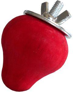 Tyrol Tutti Woody Jordgubbe. Gnagarleksak jordgubbe i naturligt trä.