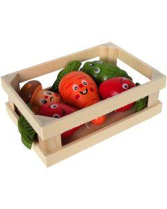Tyrol Tutti Woody Grönsakslåda. Färglada gnagargrönsaker i trälåda.