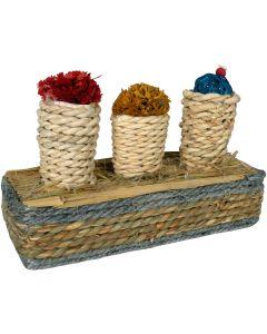 Tyrol Tutti Corny Kit. Gnagarkorgar av majsblad som håller tänderna i trim.