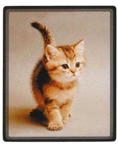 Fin musmatta med sött katt motiv