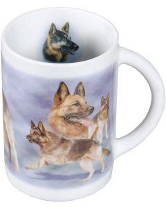 Mugg med Schäfer hund motiv