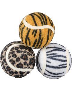 Tennisbollar med djungel mönster