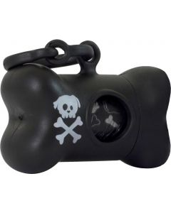 United Pets BonTon Skull Svart. Cool påsehållare med pirat-look.