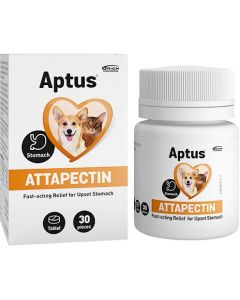 Aptus Attapectin Tablett 30st. Stoppar akut diarré hos hund och katt.