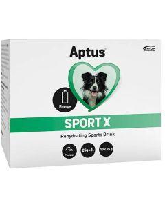 Aptus Sport X Dog 10x25 gram. Sportdryck pulver till arbetande hundar.