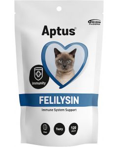 Aptus Felilysin Tuggtablett. Goda tuggbitar som behandlar kattsnuva.