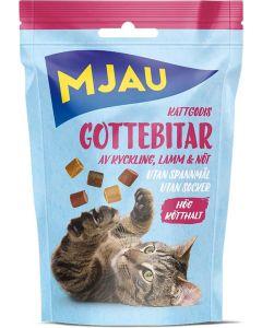 Mjau Gottebitar Mix 30g. Naturligt kattgodis av kyckling