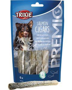 Premio Salmon Cigars. Tuggrullar av naturligt laxskinn.