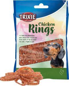 Chicken Rings. Tuggringar med kyckling och kycklinglever.
