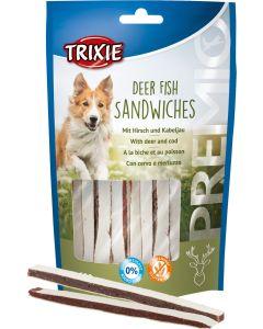 Premio Deer Fish Sandwiches. Tuggstix med rådjur och torsk.