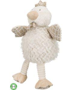 Trixie Hundleksak Höna 44cm. Stor leksak med originalljud och prasselfolie.