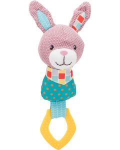 Trixie Jr Leksak Kanin Ring 23. Två i en, mjukisdjur och tugg i samma leksak.