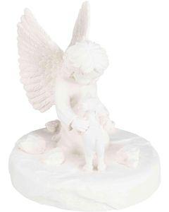 Trixie Minnesfigur Hund. Minnessten i form av en hund och en ängel.