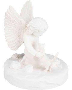 Trixie Minnesfigur Katt. Minnessten i form av en katt och en ängel.