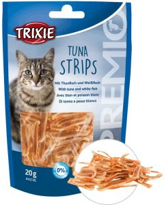 Trixie Premio Tuna Strips 20. Sockerfi kattgodis av tonfisk och sik.