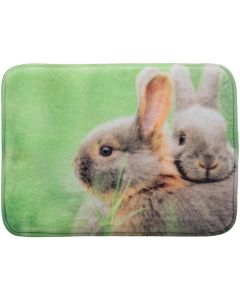 Vadderad dyna med fototryck på kaniner