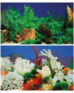 Bakgrund till akvarium i löpmeter