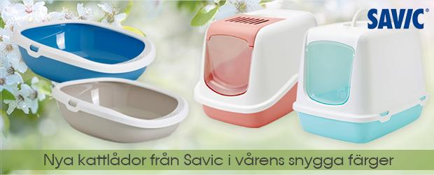 Snygga kattlådor från Savic i snygga färger