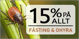 15% på alla fästing och ohyra produkter