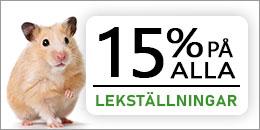 15% rabatt på alla lekställningar